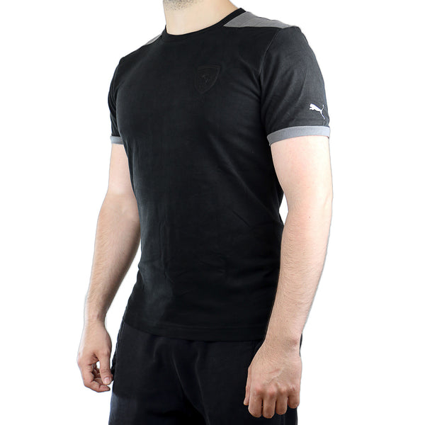 Puma Ferrari Small Shield Tee - Black - Mens