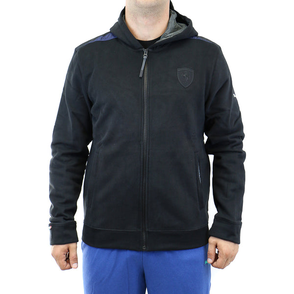 Puma Ferrari Hooded Sweat Jacket - Black - Mens