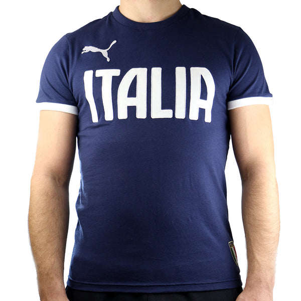 Puma FIGC Italia Graphic Tee - Peacoat - Mens