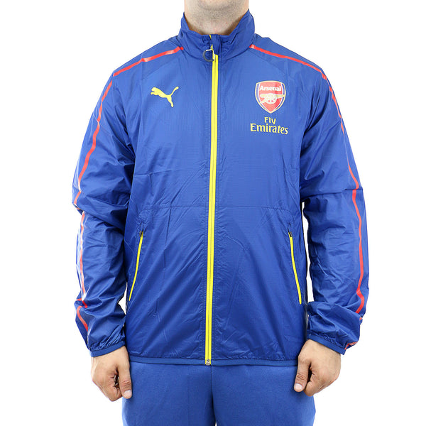 Puma AFC Anthem Soccer Replica Arsenal Jacket - Estate Blue/Empire Yellow/White - Mens