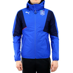Puma evoTRG Italia Stadium Hooded Track Jacket - Team Power Blue/Peacoat - Mens