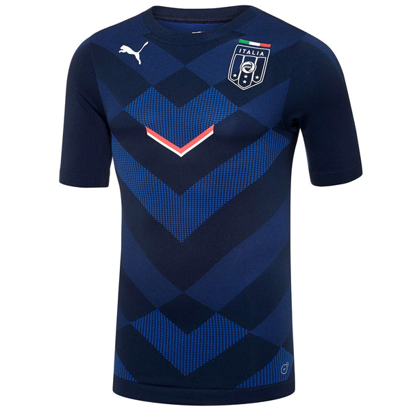 Puma FIGC Italia Stadium Jersey T-Shirt Fan Tee - Team Power Blue/Pea Coat - Mens