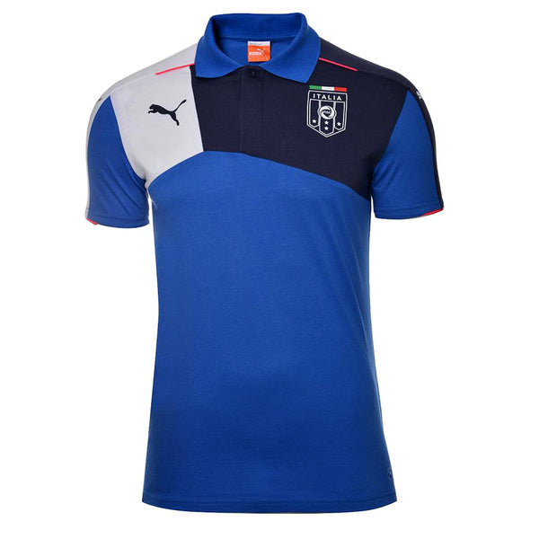 Puma FIGC Italia Stadium Fan Polo Shirt - Team Power Blue/Peacoat - Mens