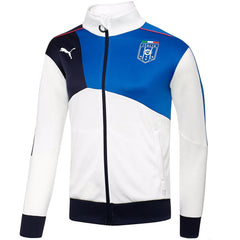 Puma FIGC Italia Stadium Walk-Out Track Jacket - White/Team Power Blue - Mens
