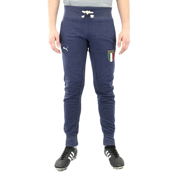 Puma FIGC Italia Azzurri Cuffed Terry Sweat Pants - Pea Coat - Mens