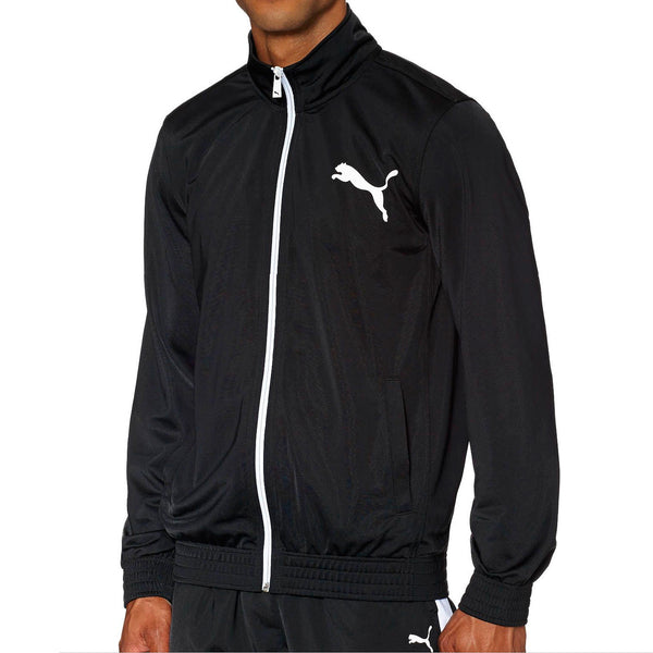 Puma  Contrast Front-Zip Track Jacket  - Navy/White - Mens