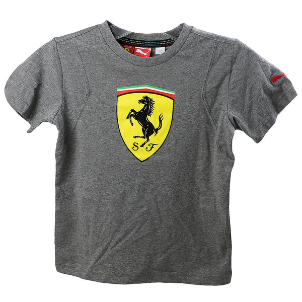 Puma Ferrari Shield Tee Shirt - Heather Gray - Boys