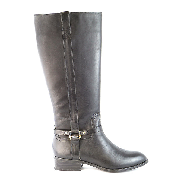LAUREN by Ralph Lauren Marla Fashion Riding Boot - Black - Womens