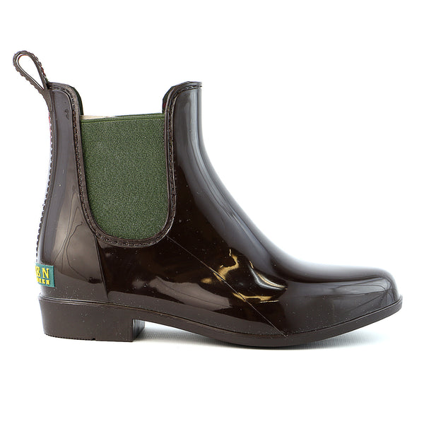 Ralph Lauren Tally Rain Shoe - Dark Brown/Green  - Womens