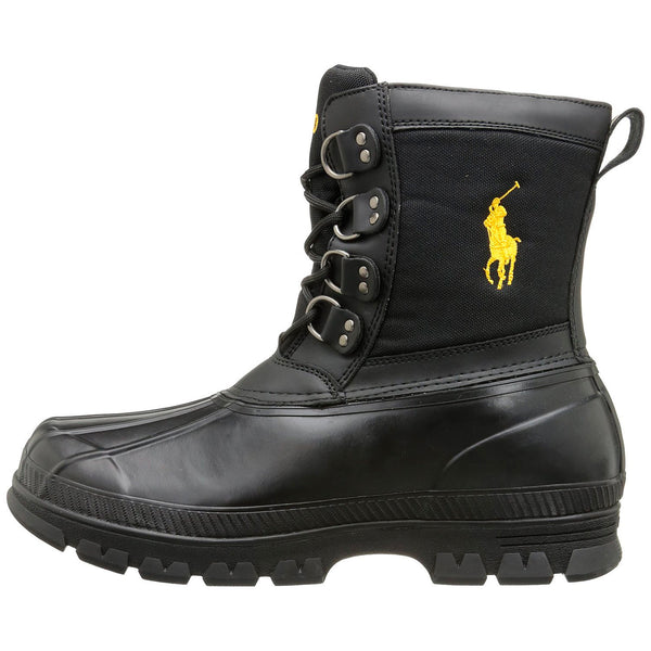Ralph Lauren Crestwick Boot - Polo Black/Slicker Yellow - Mens