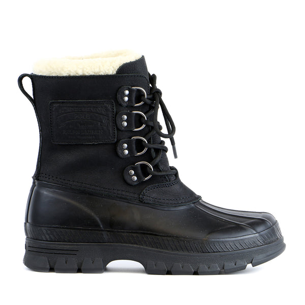 Ralph Lauren Shearling Cuff Landen Boot  - Tan-Black - Mens