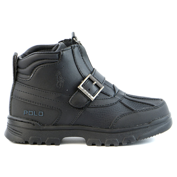Ralph Lauren Country Mid Zip Boot - Black - Boys