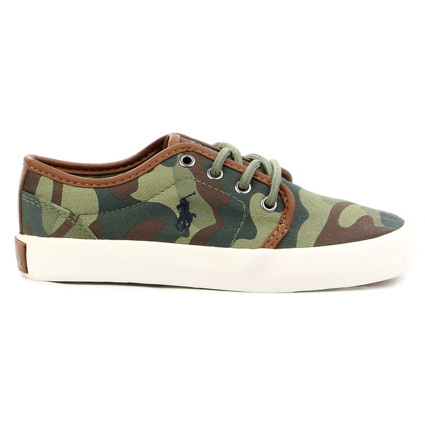 Ralph Lauren Ethan Low Slip On Fashion Sneaker - Army Camouflage - Boys
