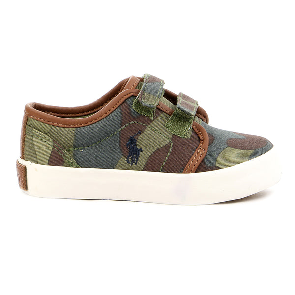 Ralph Lauren Ethan Low EZ Slip On Fashion Sneaker - Army Green - Boys