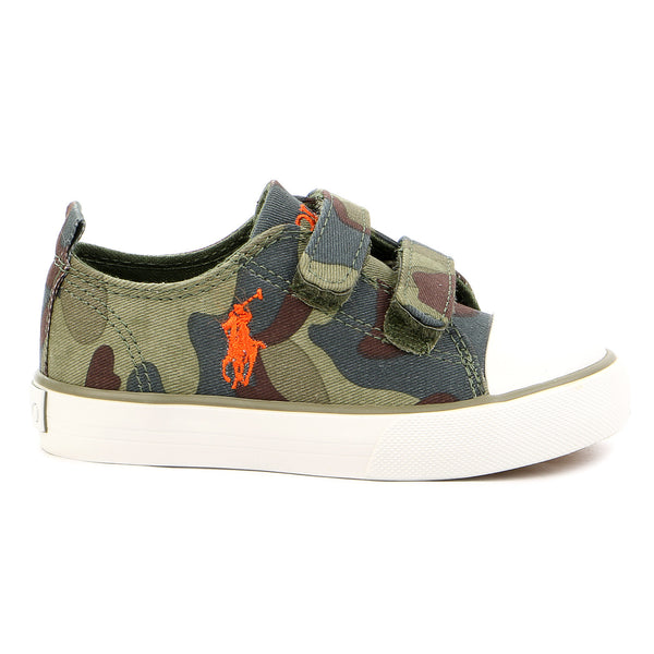 Ralph Lauren Harbour EZ Low Slip On Fashion Sneaker - Army Camouflage - Boys