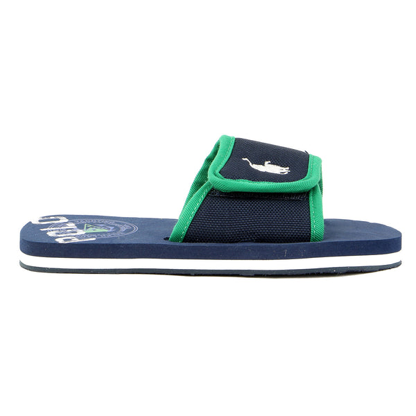Ralph Lauren Ferry Slide Sport Sandal - Navy/Green - Boys