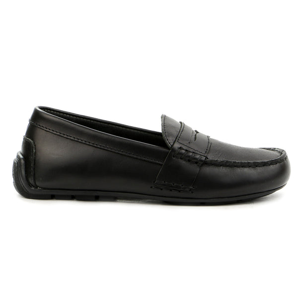Ralph Lauren Telly Moccasin Loafer Shoe - Black - Boys