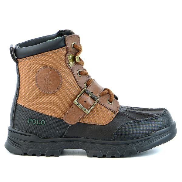Ralph Lauren Colbey Boot - Chocolate/Tan - Boys
