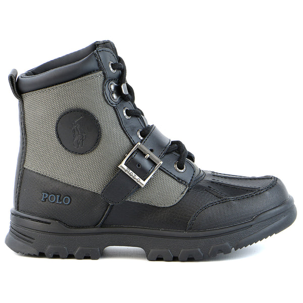 Ralph Lauren Colbey Boot - Black/Slate Grey - Boys