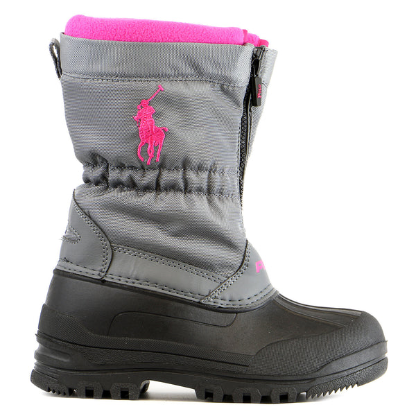 Ralph Lauren Kids Bromlee Zip Winter Boot - Grey - Girls
