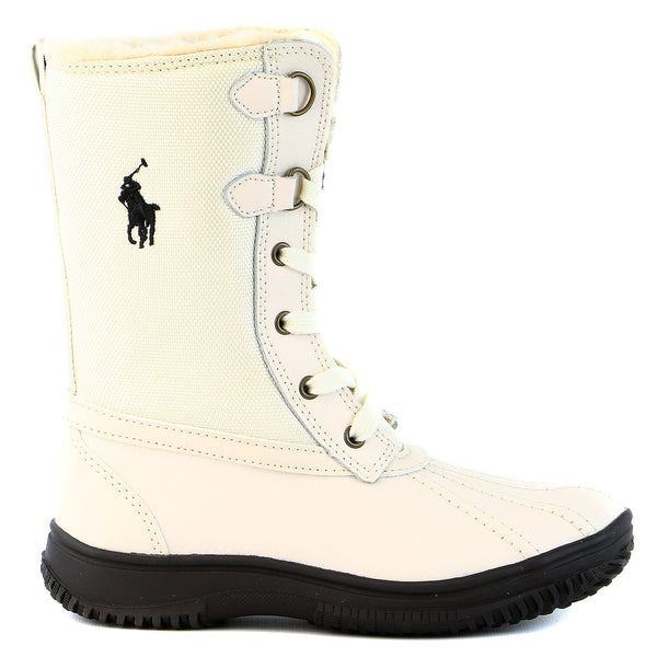 Ralph Lauren Toranto Boot - Cream - Boys