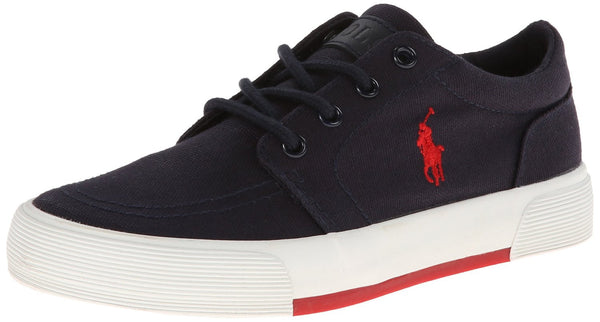 Ralph Lauren Faxon II Lace-Up Sneaker  - Black Ballistic