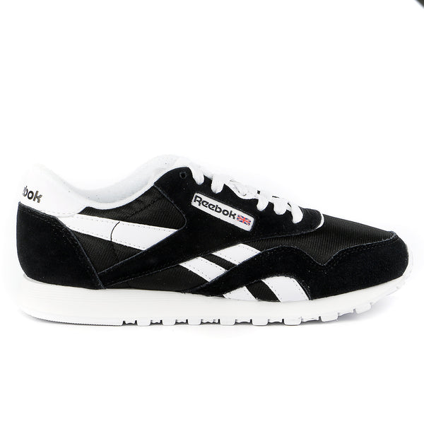 Reebok Classic Nylon Running Shoe - Black/White - Womens
