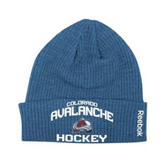 Reebok Colorado Avalanche Locker Room Cuffed Knit Hat  - Blue - Mens