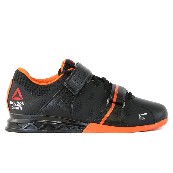 Reebok CrossFit Lifter Plus 2.0  Cross-Training Sneaker Shoe - Black/Orange/White - Mens