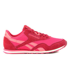 Reebok CL Nylon Slim Colors Fashion Sneaker  - Magenta Pop/Cranberry Red - Womens