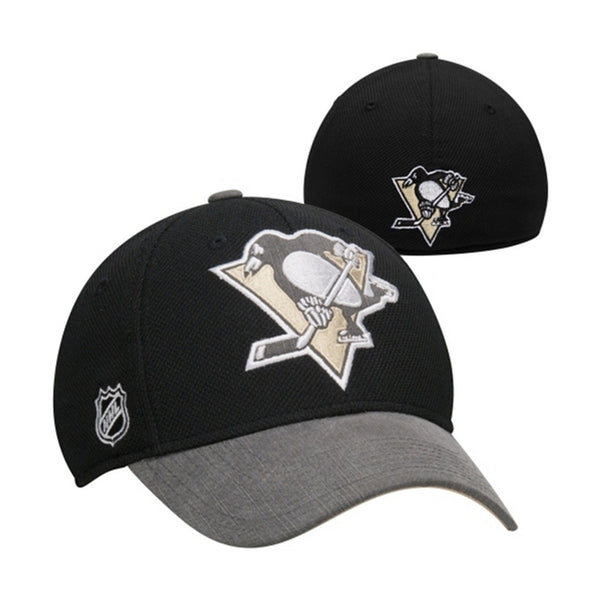 Reebok Pittsburgh Penguins Playoffs Cap Flex Hat  - Black - Mens