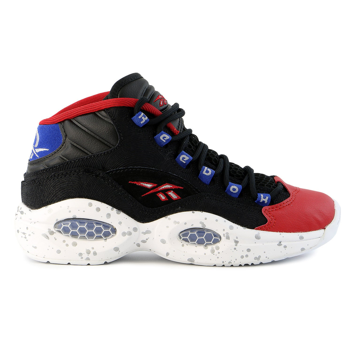 Reebok Question Running Shoes - Black White Excellent Red - Boys ... 1d24cba132f0