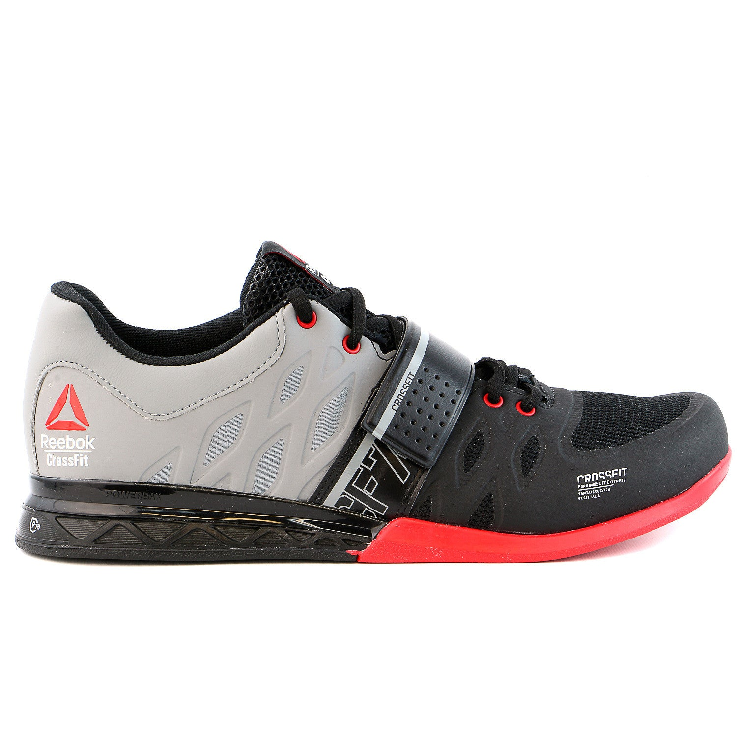 71b62a9b585a Reebok R Crossfit Lifter 2.0 Training Shoe - Black Flat Grey Excellent Red  - Mens