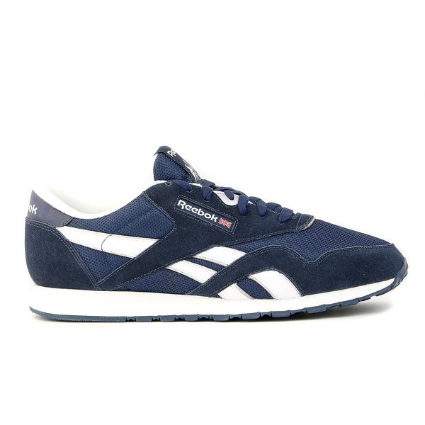 Reebok CL NYLON Shoes - Navy/White/Silver - Mens