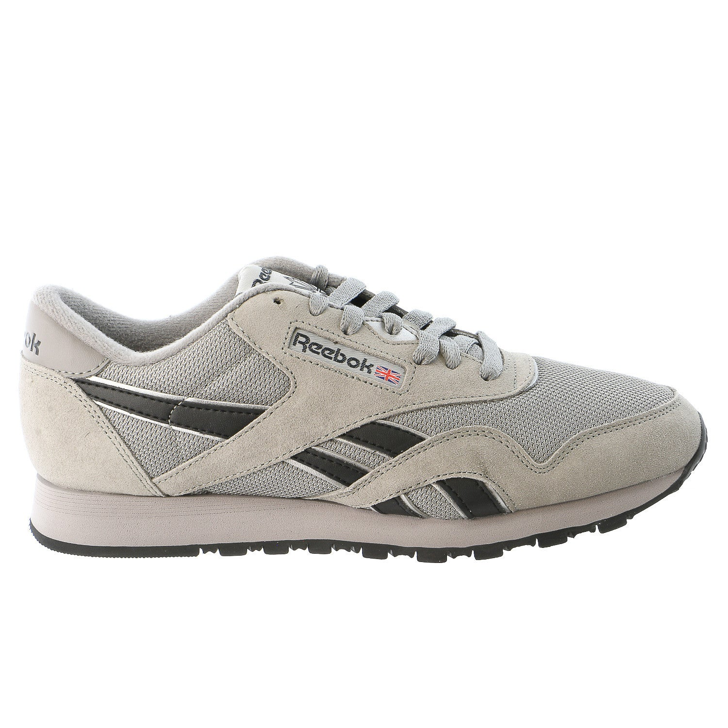 3e08c642b98 Reebok Classic Nylon Fashion Sneaker Shoe - Black Grey White - Mens ...
