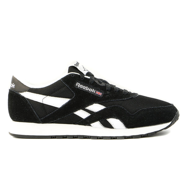 Reebok Classic Nylon R13 Shoe  - BLACK WHITE - Mens