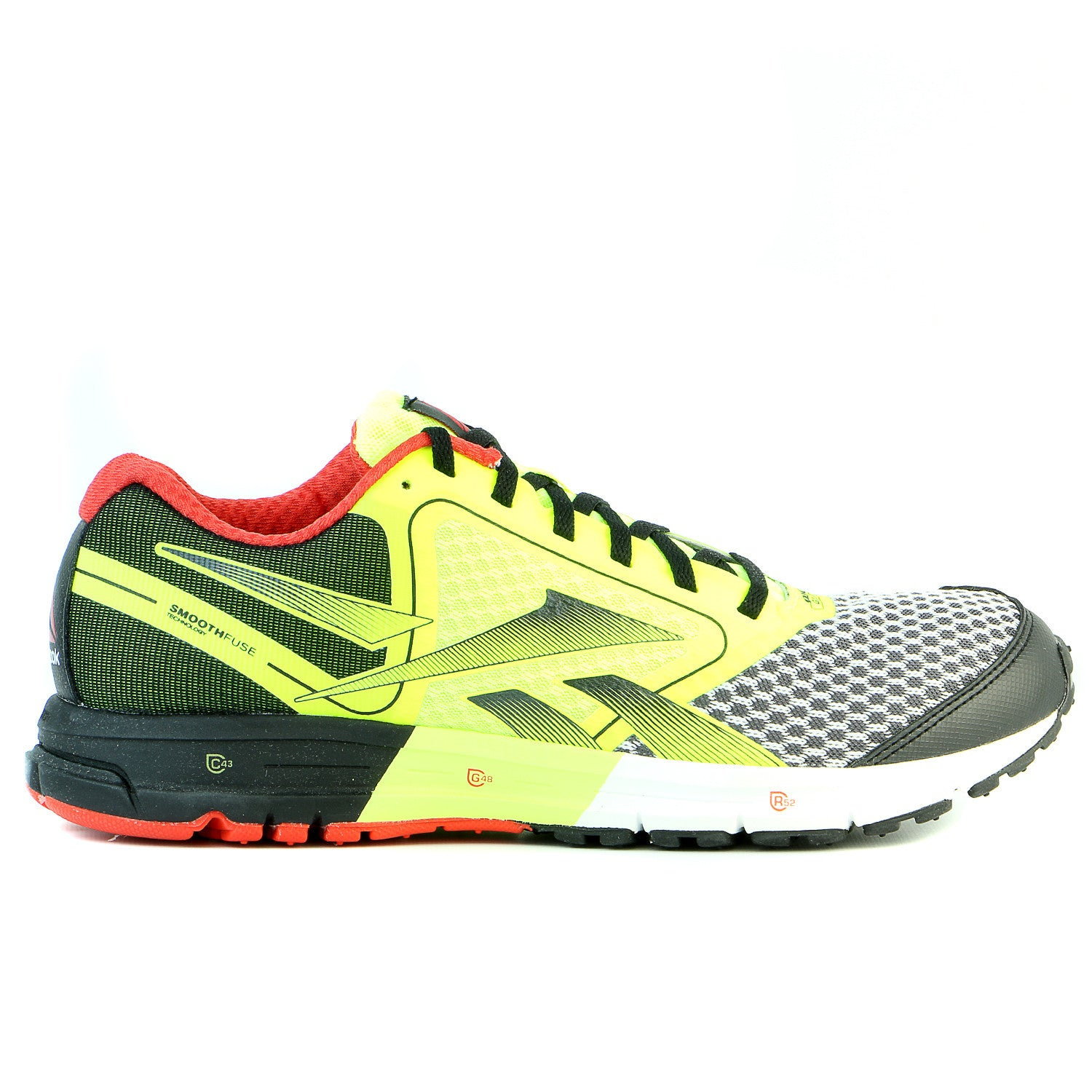 4283897423f659 Reebok One Guide Running Shoe - Black-Yellow-Red - Mens - Shoplifestyle