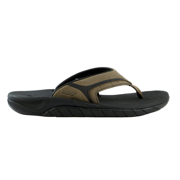 Reef Leather Slap II Flip Flop Sandal - Brown Plaid - Mens