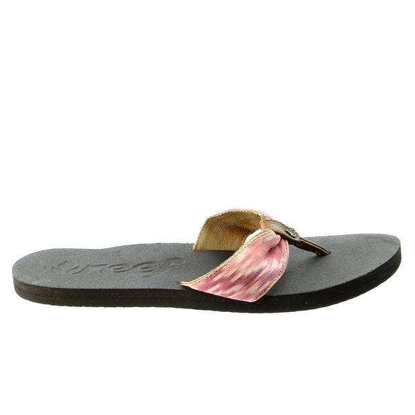 Reef We Heart Scrunch Flip Flop Sandal - Brown/Pink - Womens