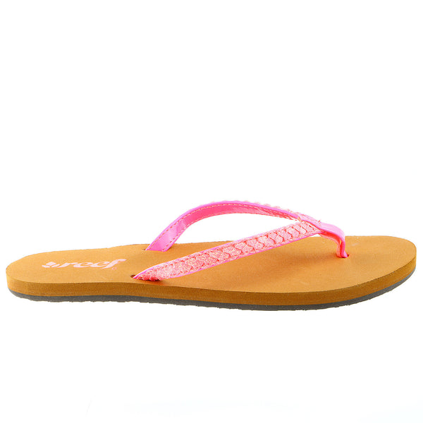 Reef Twisted Stars Brights Flip Flop Sandal - Neon Pink - Womens
