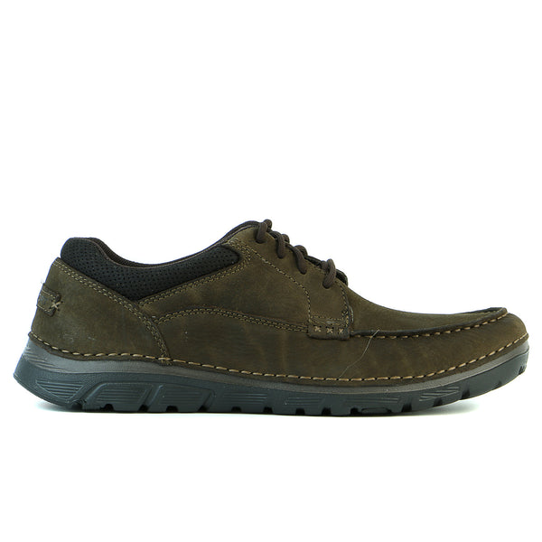 Rockport Zonecush MC Toe Oxford Walking Shoes - Dark Brown - Mens