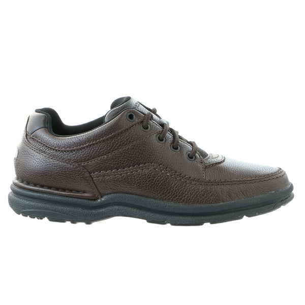 Rockport World Tour Classic Walking Shoe - Brown Tumbled - Mens