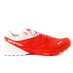 Salomon S-LAB Sense 4 Ultra Trail Running Shoes - Racing Red White - Mens
