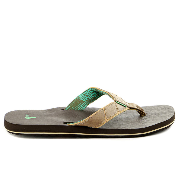 Sanuk Tribune Flip Flop - Tan - Mens