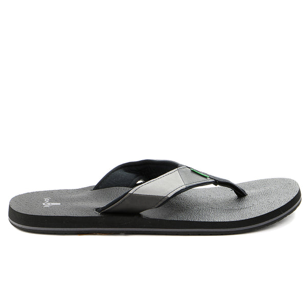 Sanuk Block Party Flip Flop - Black/Charcoal - Mens
