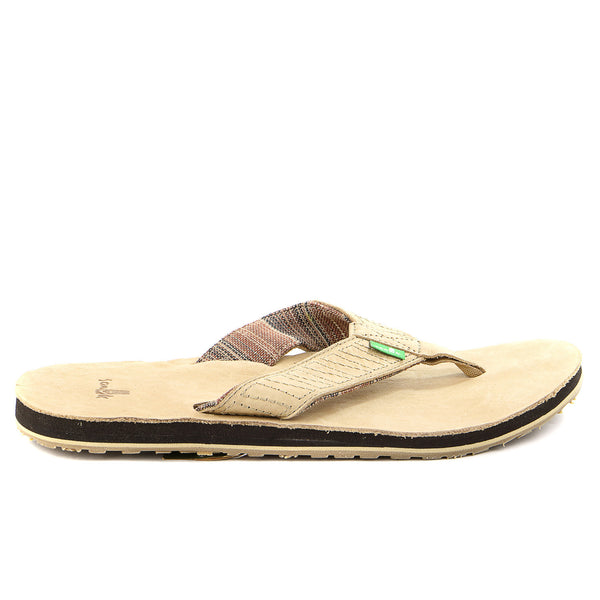 Sanuk Burro Down Flip Flop - Tan - Mens