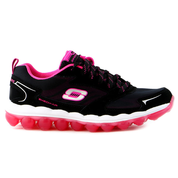 Skechers Sport Skech Air Cross Trainer Sneaker Shoe - Black/Hot Pink - Womens