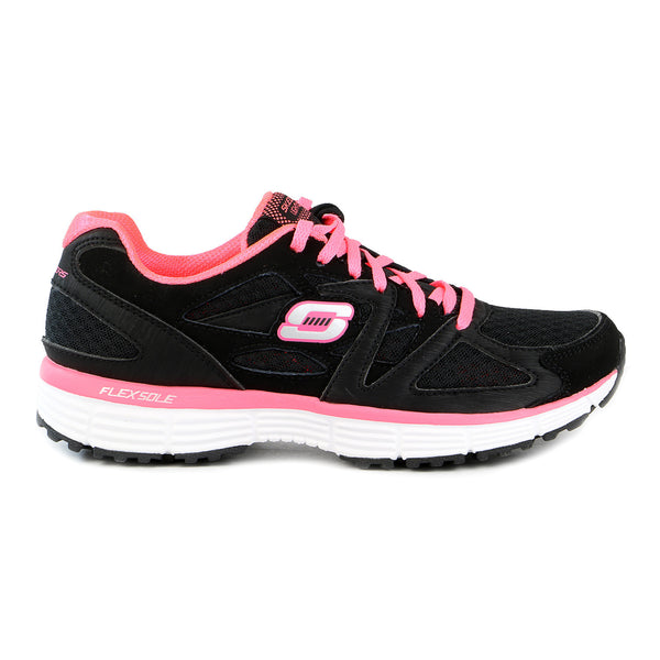 Skechers Agility Free Time Running Shoe - Black/Coral - Womens