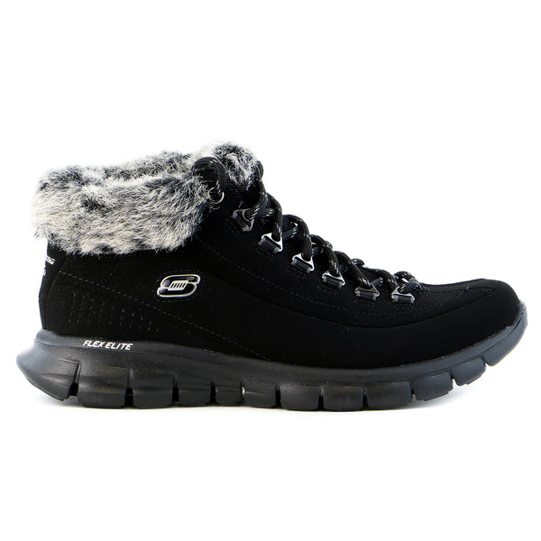 Skechers Synergy - Vital Sign Snow Boot Shoe - Black - Womens