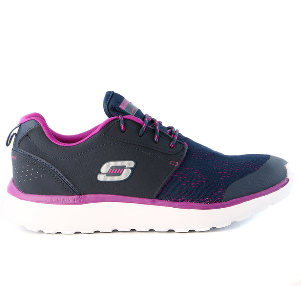 Skechers Counterpart Walking Sneaker Shoe - Navy/Purple - Womens